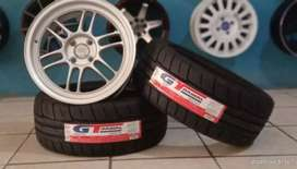 Jual paket velg+ban mobil racing murah ring 16x7.0 h4x100 et40