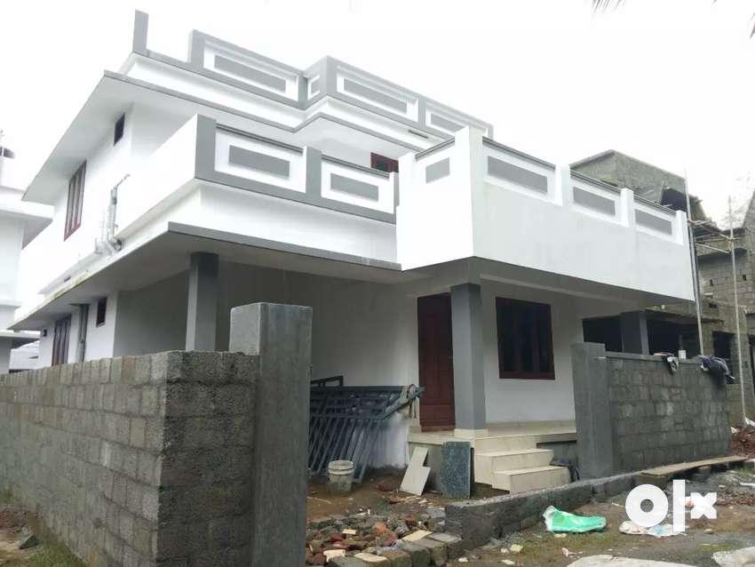 3 bhk 1300 sqft  new build beautiful house at aluva varapuzha road 0