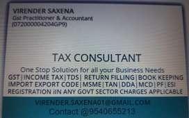 GST & ITR , part times accounts,