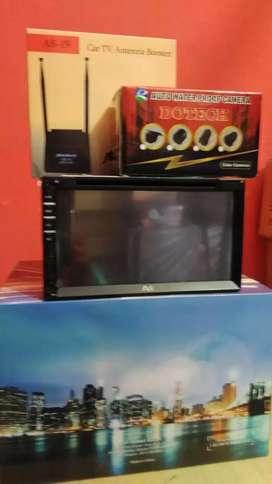 Paket tv mobil: Double din tv, antenaTV booster,Camera+Psang
