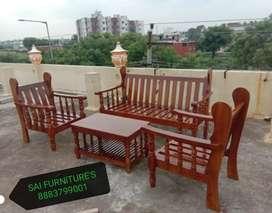 Pure Teak wood sofa