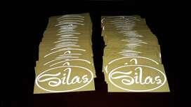 pusat cutting sticker scotlite stiker scotlet nyala murah logo di Solo