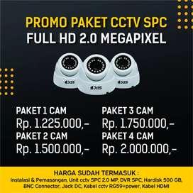 Promo paket CCTV SPC 2mp 1080p video 2.0 megapixel Pasang cctv