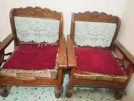 Real sagwan sofa set