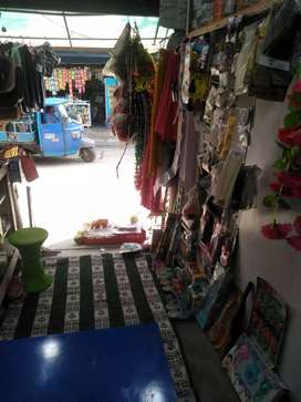 Ladies, gents garments, gifts item, cosmetics running shops