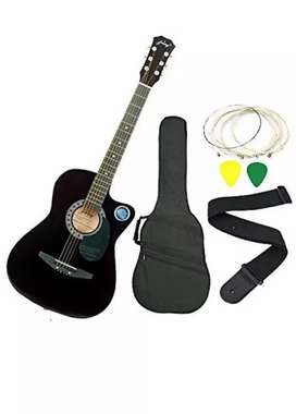 wooden acoustic guitar