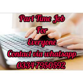 Part time job for students at home daily bases. 7579