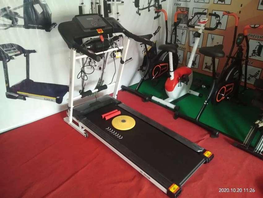 Treadmill elektrik id 002M baru 4 in 1 0