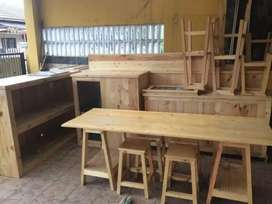 Mini bar dan meja , kursi cafe jati belanda