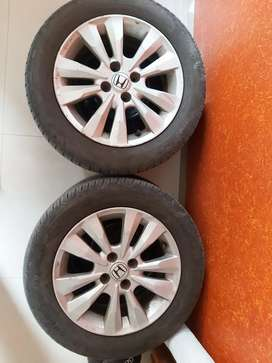 Honda 2012 City Alloys with Good Year Tyres (Pashan)