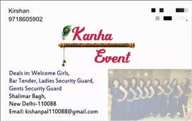 Requirement girls for event