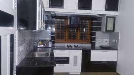 fully furnished ,sofa , 3bed, modular kitchen