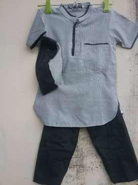 Dijual baju muslim anak² second baru 1x pakai utk usia 3 thn