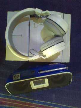 MP3 Bluetooth headphone, mp3 speaker in good condition