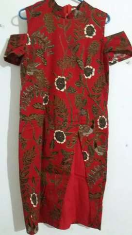 Dress wanita/ dress batik / fit to L