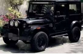 Modified black mahindra jeep