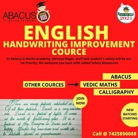 English handwriting improvement classes