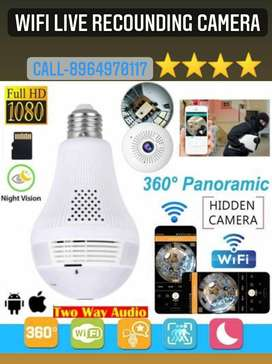 WiFi Bulb Spy Audio Video Live recording HD Camera With Night Vision