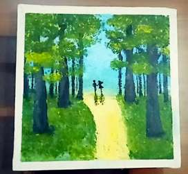 Handcrafted acrylic painting
