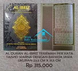 Al Quran Al Ibriz terjemah per kata bhs Jawa+tajwid warna (Semarang)