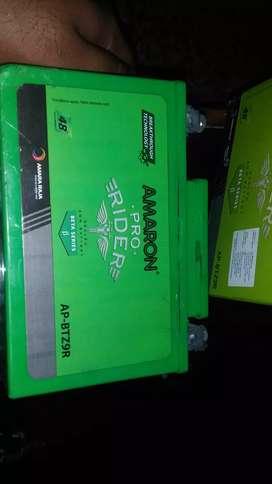 amaron z9 battery(ns 200  rs 200 duke bullet) for sale