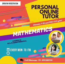 Online and offline Maths Tuition For Classes 8,9,10