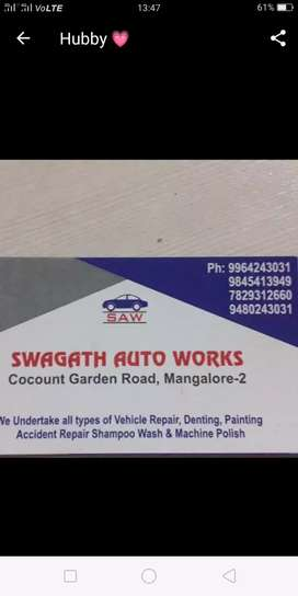 Office staff for automobile workshop