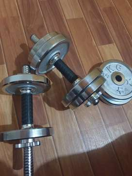 Adjustable dumbbell and gym equipments