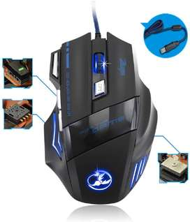 Iron Bottom Optical A50 Gaming Mouse 6D with Changing Color Light Effe
