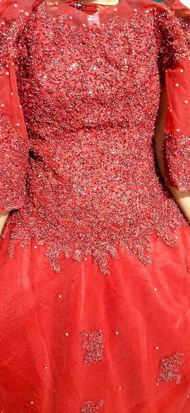 GOWN, NEW SHINING RED GOWN