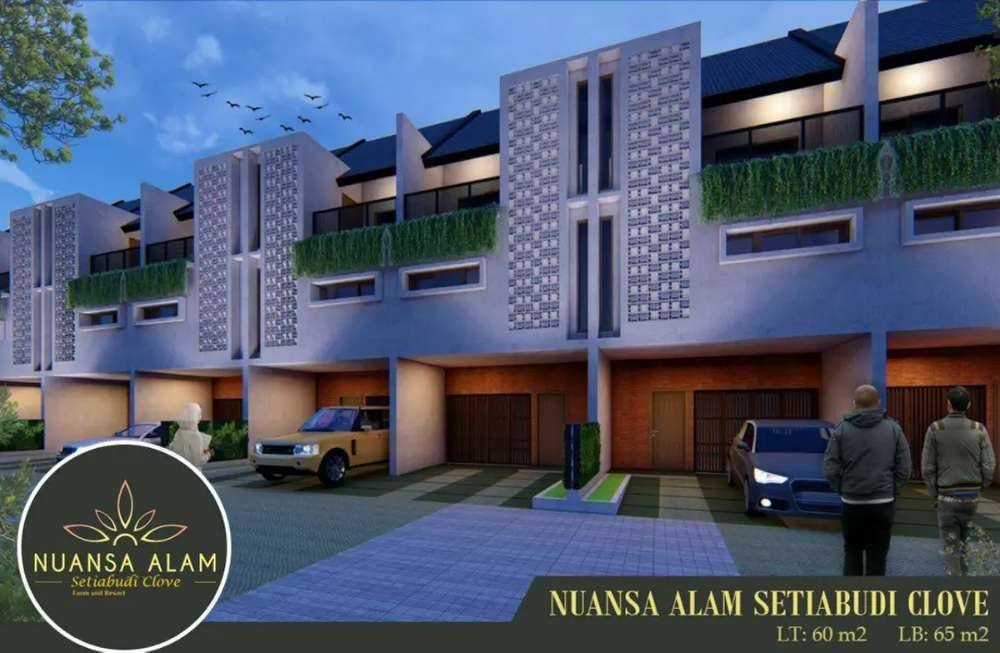 rumah konsep villa asri 3 lantai dekat kawasan wisata di lembang