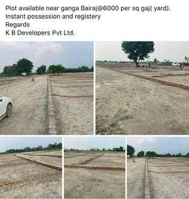 Plots available in Ganga bairaj at 6 lakh rupees 100 gaz
