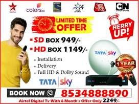New Connection Offer Tata Sky Dishtv Airteltv Videocon D2h tatasky HD!