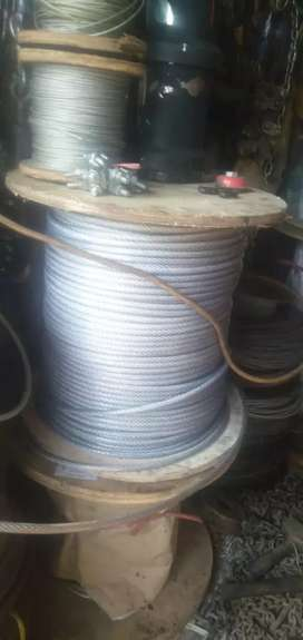 Kawat seling Pvc 6mm wire rope sling takel katrol chain block