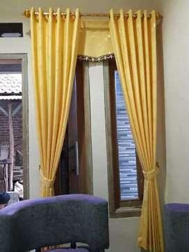 Interior cantik gordyn kordyn bermotip hasil karya penjahit handal 669
