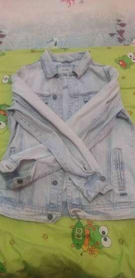 Jaket jeans pull and bear 1000% original