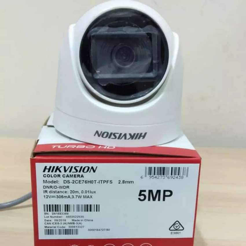 DS-2CE76H0T-ITPFS Hikvision Kamera CCTV indoor 5MP audio suara 0