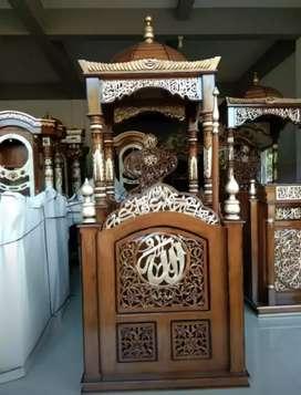 Mimbar Masjid ukiran kayu jati berkualitas @MRJ hq122