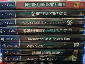 PS4 Games CD available