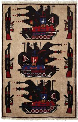 245 # Excellent Hand-Knotted War Rug 100% Wool (134 x 86 cm)