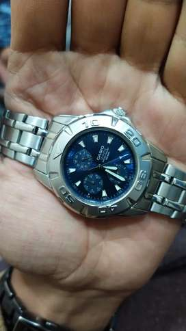 Casio. Imported Branded Genuine Watch Chronograph Blue