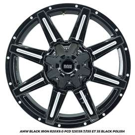 VELG MOBIL AMW BLACK IRON R20X9.0 12X139.7/135 ET35 PAJERO FORTUNER