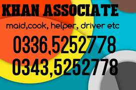 KHAN) Provide Family Cook, Drivers, Maids, Helpers, Patient Care