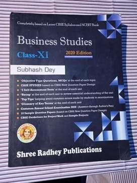 Business Studies-Class 11 Subhash Dey 2020 edition