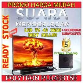 PROMO MURAH TV LED POLYTRON CINEMAX SOUNDBAR PLD43B150 43inch