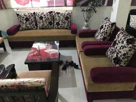 Five Seater sofa set in purple colour in very