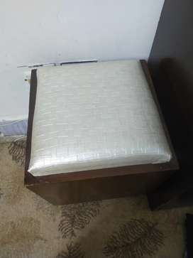 Wooden  dressing table stool/ottoman