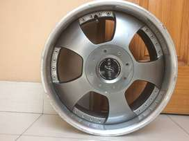 Alloy rims with chrome lip size 17  PCD 4 nuts