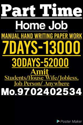 Good hand writing to good Earning support your family