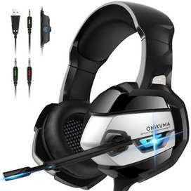 ONIKUMA k5 Gaming Headset Hedphones for pc ps4 ps5 and xbox - New